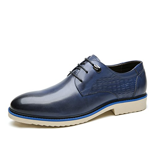 with credit card free shipping Men's Leather Casual Shoes Dress Autumn Business Wedding Fashion Slip On Black-brown Blue cheap outlet store f2mno