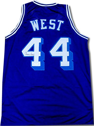 Jerry West Hand Signed Autographed Los Angeles Lakers Jersey HOF Blue #44 JSA