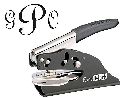 - ExcelMark Hand Held Embosser - Monogram Gift Embosser - Style 25