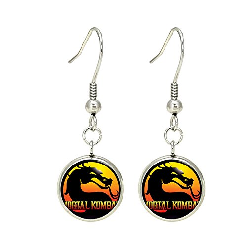 Mortal Kombat Fashion Novelty Dangle Earrings Console Game Series with Gift Box]()