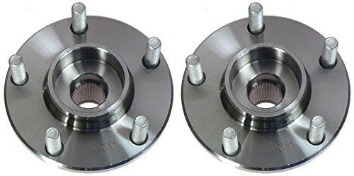 Front Wheel Hubs & Bearings Pair Set for 04-05 Mazda 3 Mazda3