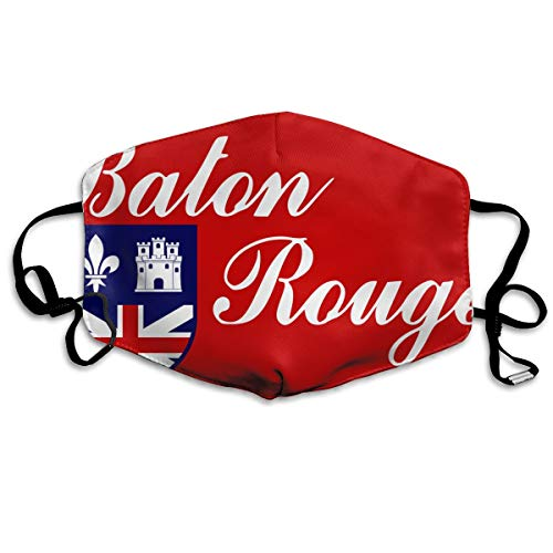SDQQ6 Flag of Baton Rouge Mouth Mask Unisex Printed Fashion Face Mask Anti-dust Masks