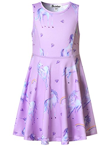 Unicorn Dress Girls Summer Party Cute Lavender Teens