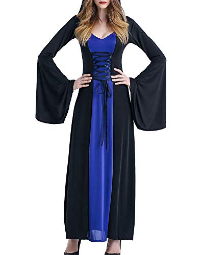 Jeanewpole1 Womens Renaissance Halloween Costume Medieval Witch Cosplay