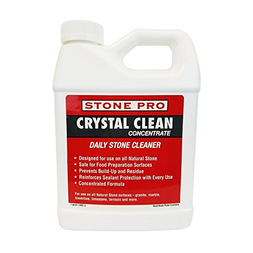 Stone Pro Crystal Clean - Daily Stone and Tile Cleaner - Concentrate - 1 Quart 1 Quart Concentrate