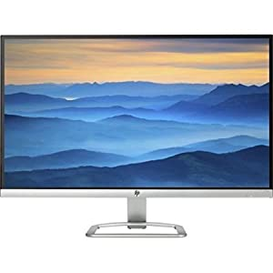 "2017 Newest Flagship HP 27"" Widescreen IPS LED Full HD Monitor, LED Backlighting, 7ms response time, 178 degrees viewing angles, 10,000,000:1 dynamic contrast ratio, 2 HDMI, VGA Inputs, Natural Silver"