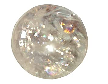 Amazon com | Crystal Cave Satyaloka Azeztulite Quartz Crystal Ball