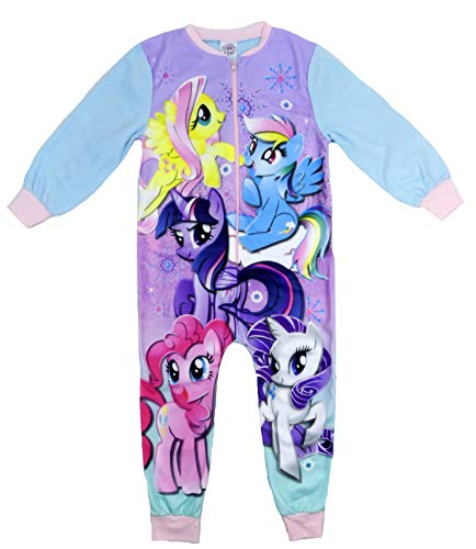 (Girls Character All in One Fleecey Sleepsuit Various Characters and Sizes (My Little Pony, 7-8)