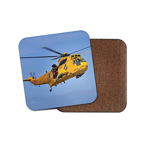 Raf Sea King Helicopter - RAF Sea King Rescue Helicopter Coaster - Ocean Medics Pilot Flying Gift #15733