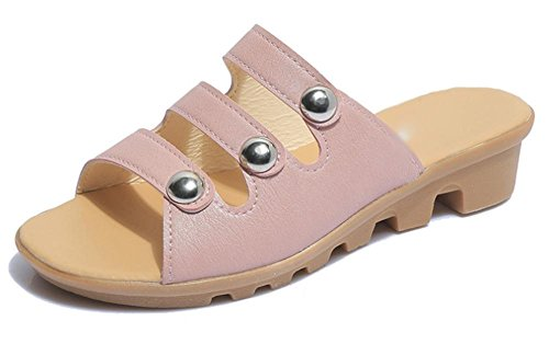 planas arrastran sandalias palabra Pink planas sandalias femenina manera casuales zapatillas con las femenino deslizan la de y xqnSqw0v1