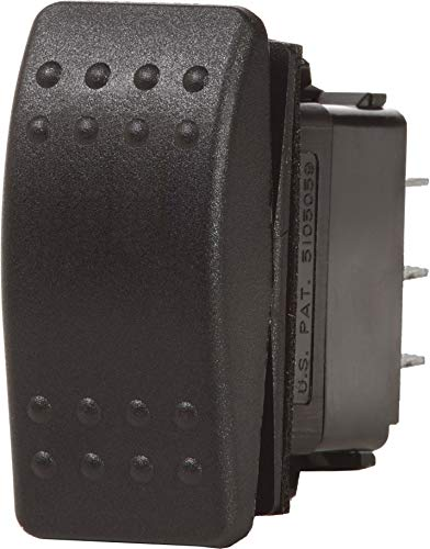 Blue Sea Systems Contura II (ON)-Off-(ON) DPDT Switch, Black ()