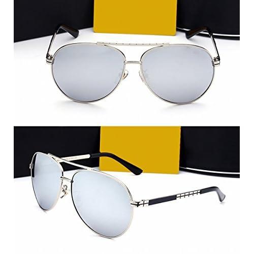 d984a52fb0 Gafas de Sol de la Lente Del Color de Los Hombres Espejo de la Rana ...