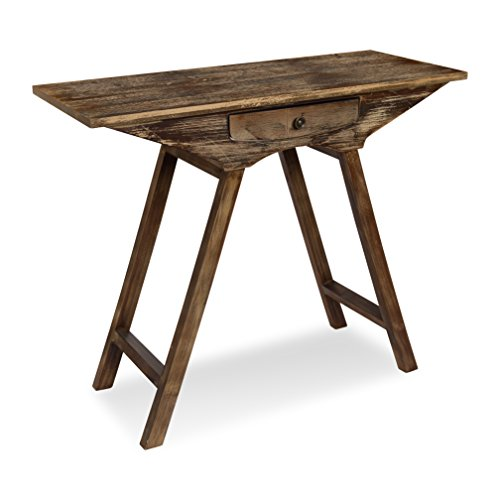 Kate And Laurel   Yasu Rustic Chic Small Wooden Console Table With Drawer