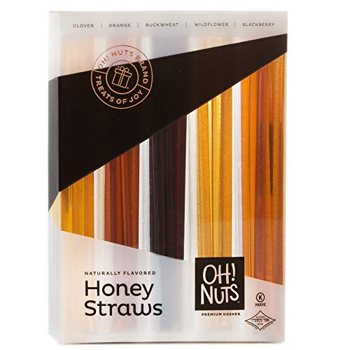 Oh! Nuts Holiday Honey Sticks Gift Set, 5 Naturally Flavored By Bee's Variety Stix Gift Box, Christmas Thanksgiving or New Year's Prime Gifts Baskets Original Unique Gourmet Food Idea for Men & Women]()