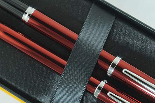 Cross Century II Limited Series, Pearlescent Metallic Ruby red selectip Gel Ink Rollerball Pen and Ballpoint Pen. A Great Gift to Anyone, Especially Him and Her by A.T. Cross (Image #2)