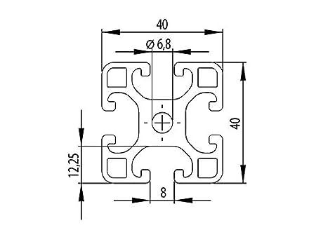 taglio 50mm-2000mm 1 - Profilo in alluminio 40x40L slot tipo I 8 1000mm