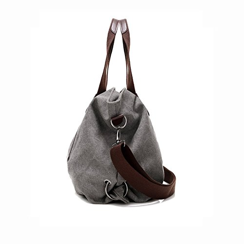 Shoulder Daily Hobo Shopper Red Purse Handbag Fashion Casual Canvas Women's Bags Tote wine Ladies KARRESLY qI8tO