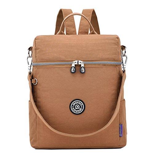 Travistar - Bolso mochila para mujer Negro beige beige