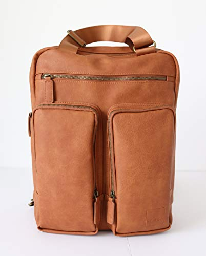 - Kanga Pack (Caramel/Bronze) Diaper Bag Backpack - Multi-Functional Large Capacity Travel Bag for Baby Necessities