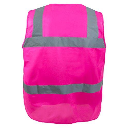 RK Safety PK0430 ANSI/ISEA Class 2 Certified Female Safety Vest (Pink, Medium) by New York Hi-Viz Workwear (Image #1)