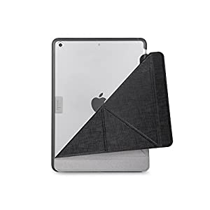 "Moshi 99MO056004 VersaCover Origami Case for New iPad 9.7"" 2018, 2017, Metro Black"