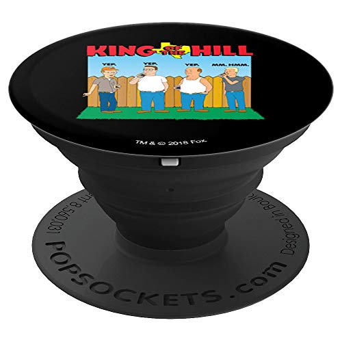 King of the Hill All Four Drinking with Logo - PopSockets Grip and Stand for Phones and Tablets ()
