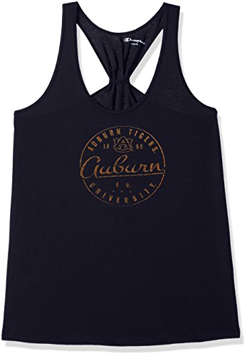 NCAA Auburn Tigers Women's Champion Eco Swing Tank, X-Small, Navy Champion Sports Apparel