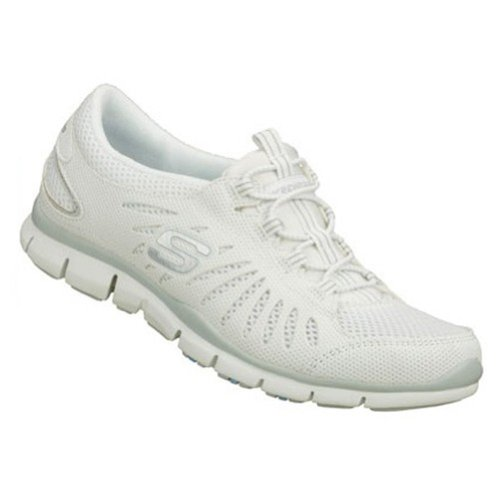 Skechers Gratis - Big Idea Fashion Sneaker Shoe - White - Womens - 8 (Skechers Gratis In Motion)