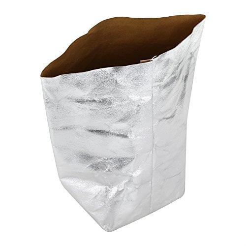 Duokon Cesta de Papel Kraft Plantas Lavables Macetas para Flores Cestas de Almacenamiento en casa Organizador Bin(M)