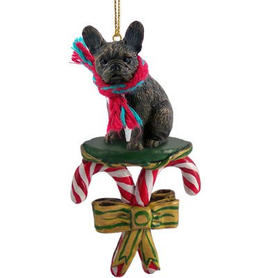 Bulldog Candy (French Bulldog Candy Cane Christmas Ornament)