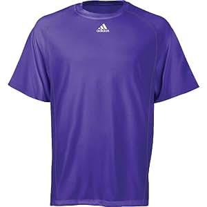 Adidas Mens Climalite Short Sleeve T-Shirt - Purple (X-Large)