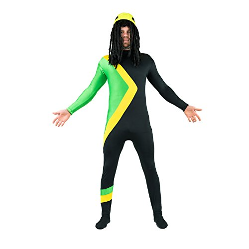 Bodysocks Jamaican Bobsleigh Cool Running's Fancy Dress Costume (X-Large) -