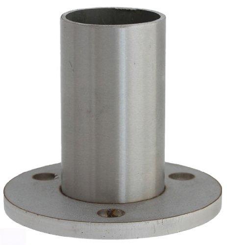 Edelstahldiscounter S013970 - Anclaje de suelo para poste 3 agujeros, diá metro: 42,4 mm) diámetro: 42