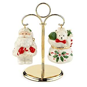 Lenox Holiday Carved Holiday Toys Hanging Salt & Pepper
