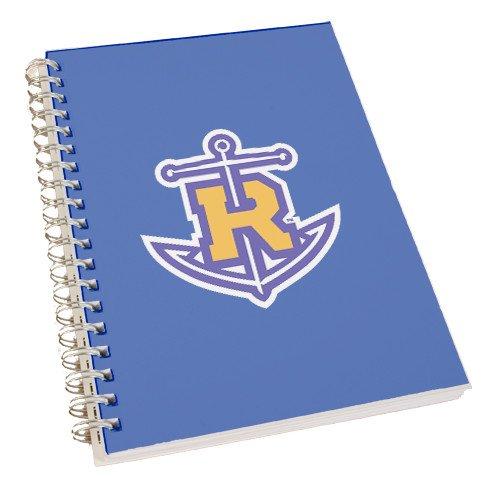 CollegeFanGear Rollins Clear 7 x 10 Spiral Journal Notebook 'Official Logo' by CollegeFanGear