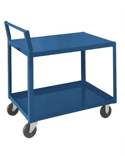SPG GLD Gillis/Jarke Steel Service Cart, 2 Shelves, Gray, 1000 lbs Load Capacity, 31