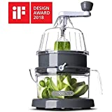 Spiralizer Next Generation Multi-Blade Spiralizer Vertical Vegetable Slicer, Now 30% Stronger - Best Vegetable Cutter - Zucchini Pasta Noodle Spaghetti Maker for Low Carb/Paleo/Gluten-Free Meals