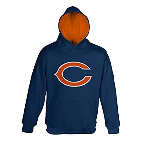 0be7c92b Outerstuff Chicago Bears Navy Blue Youth Primary Hooded Sweatshirt Hoody