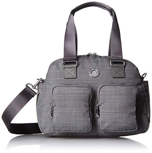 Kipling Women's Defea Handbag, Removable, Adjustable Crossbody Strap, Zip Closure, dusty grey DAZZ cw