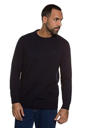 JP 1880 Homme Grandes tailles Pull Homme Uni Col V manches longues - Pyull tricots bleu marine foncé 7XL 708261 70-7XL