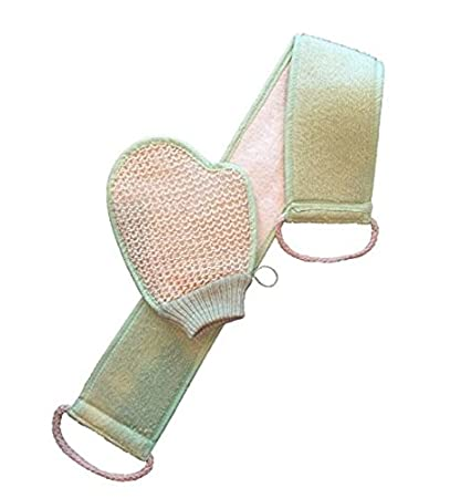 LOOFAH With FREE Mitten. Exfoliate In The Shower With The BEST Back  Scrubber, Made
