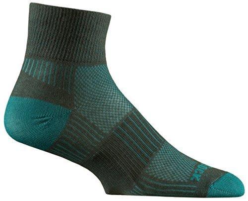 (Wrightsock Unisex Coolmesh II Quarter Ash/Turquoise Medium)