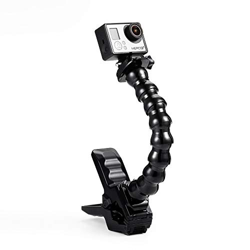 - OKNAE Camera Mount Jaws Flex Clamp Mounts with Adjustable Gooseneck with Gopro Hero 6, 5, 4, Session, 3, 2, 1 Cameras
