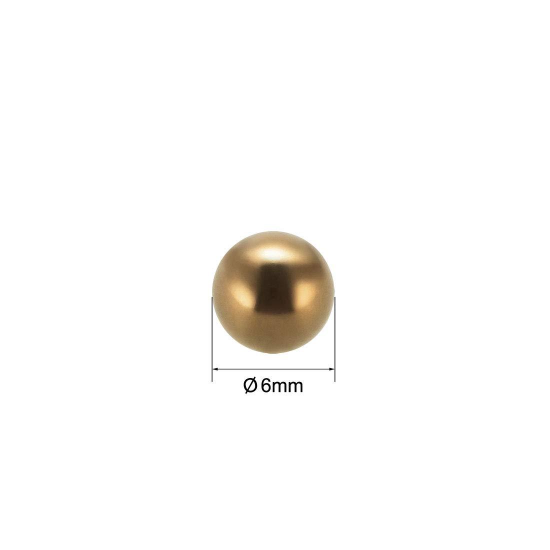 sourcing map 6mm Pr/écision Solide Laiton Roulement Billes 100Pcs