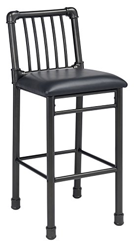 Acme Furniture 72032 Caitlin Bar Chair Set of 2 , Black PU Black