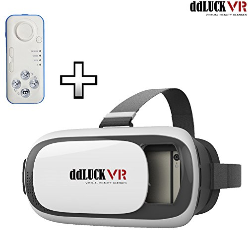 DDLUCK Virtual Reality Headset II with Universal Wireless Remote Controller VR Virtual Reality 3D Glasses For Smartphones Pack of VR Headset II + Universal Remote Controller