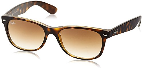 Ray-Ban NEW WAYFARER - LIGHT HAVANA Frame CRYSTAL BROWN GRADIENT Lenses 55mm Non-Polarized (Havana Sunglasses Brown)