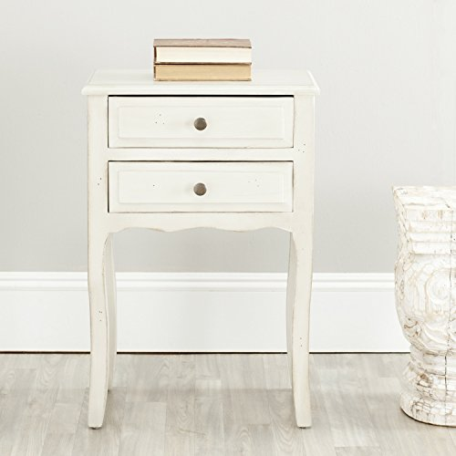 - Safavieh American Homes Collection Lori White End Table