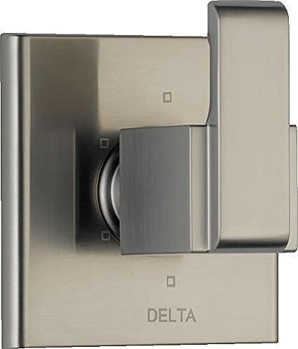 Stainless T11967-SS Valve Not Included DELTA FAUCET Ara 6-Setting Shower Handle Diverter Trim Kit