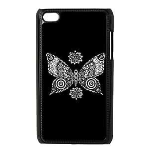 iPod Touch 4 Case Black butterfly D9N5Y